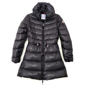 Moncler Down Jacket Zipped Shiny Gray Mirielon S,1